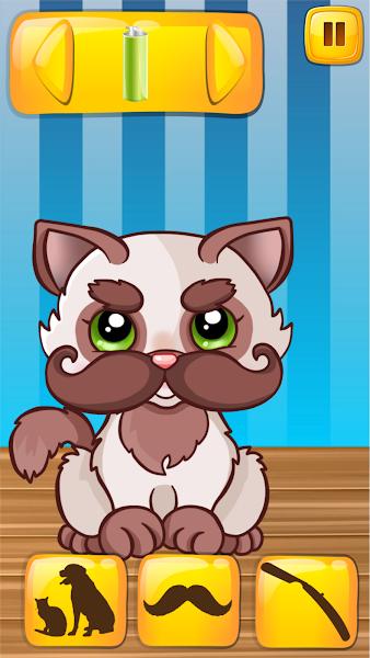 pet beard salon, beard salon, fashion game, little pets, cutest puppies, grooming pets
