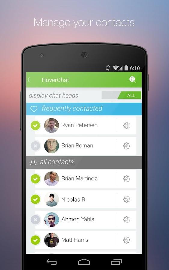 HoverChat Free (Ninja SMS) - screenshot