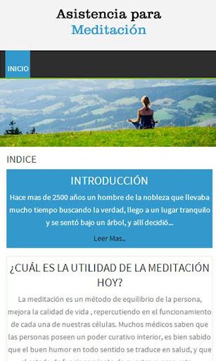 Asistencia para Meditación