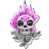 Pink Skull for Girls Sticker!