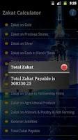 Screenshot of Zakat Calculator