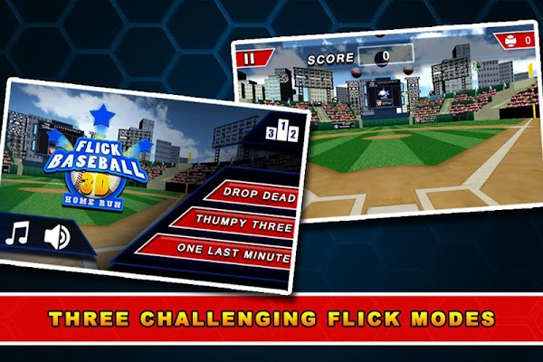 Flick Baseball 3D - Home Run - screenshot