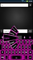 Screenshot of GO Keyboard Pink Neon Theme