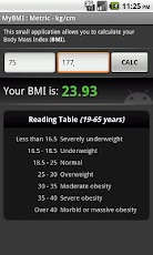 Logo for BMI Calculator App for Android