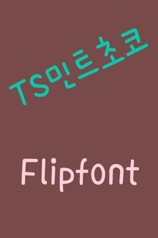 TSMintchoco™ Korean Flipfont