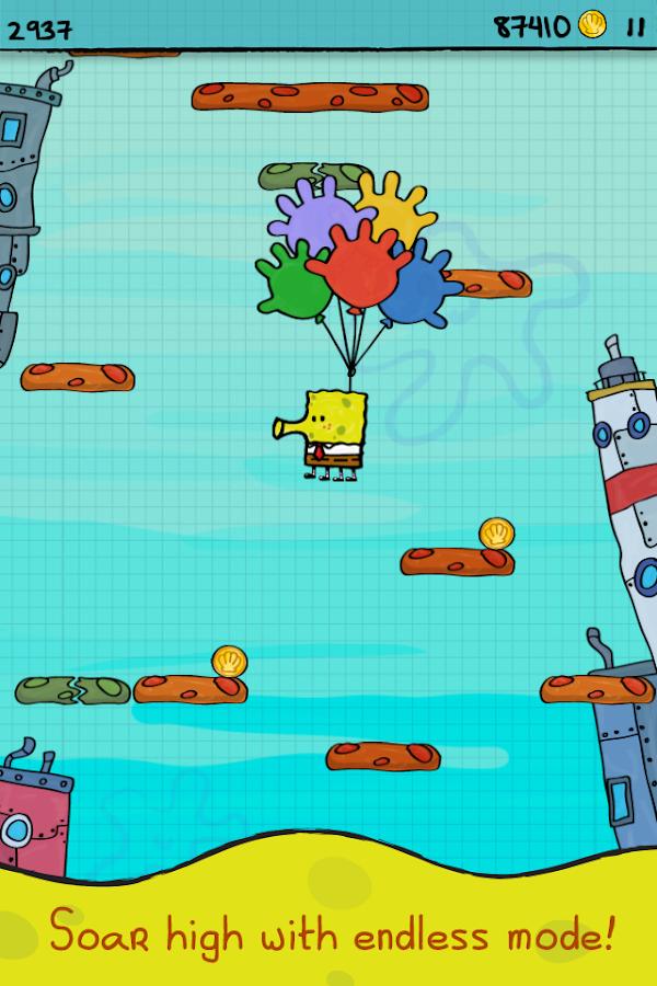 Doodle Jump SpongeBob - screenshot