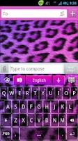 Screenshot of GO Keyboard Girly Cheetah