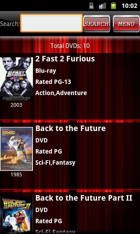 DVD Catalog- screenshot