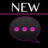 GO SMS Black Pink