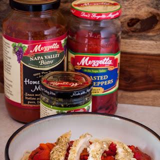 Pesto Chicken Spaghetti with Mezzetta.