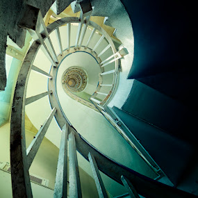 Office Stairs by Steve Struttmann - Buildings & Architecture Decaying & Abandoned