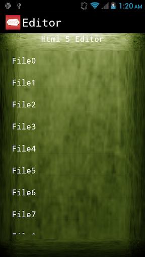 HTML 5 Editor