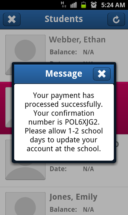 PayPAMS- screenshot