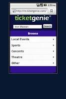 Screenshot of Madonna Tickets