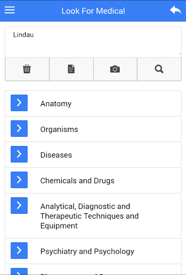 Medical Search and Dictionary- screenshot