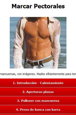 Ejercicios Pectorales - screenshot