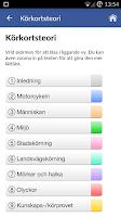 Screenshot of iKörkort MC