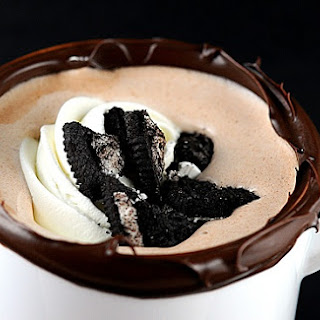 Cookies and Cream Hot Chocolate.