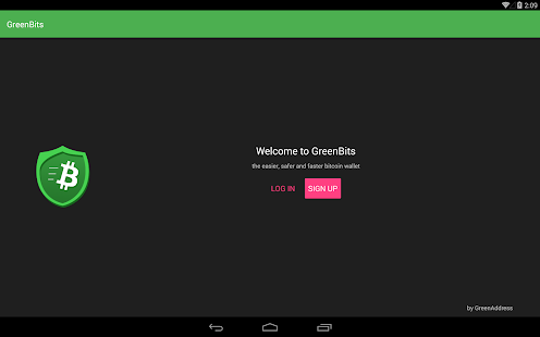 GreenBits Testnet Wallet- screenshot thumbnail