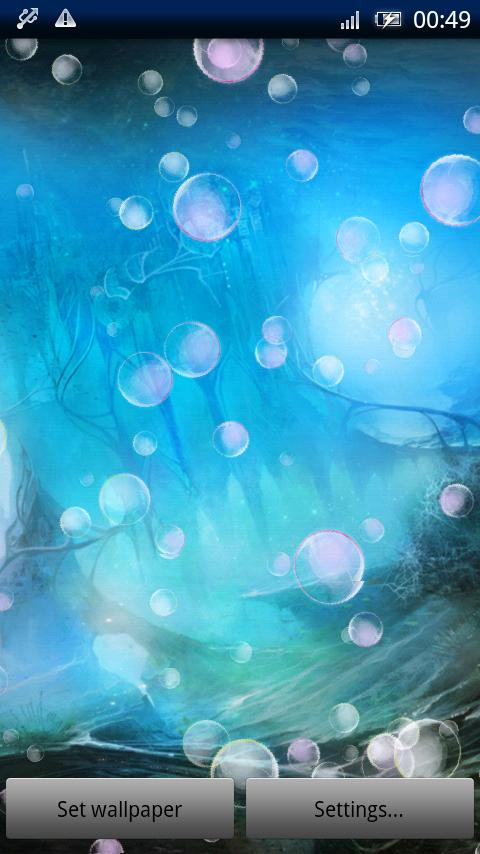 Bubble Live Wallpaper Pro- screenshot