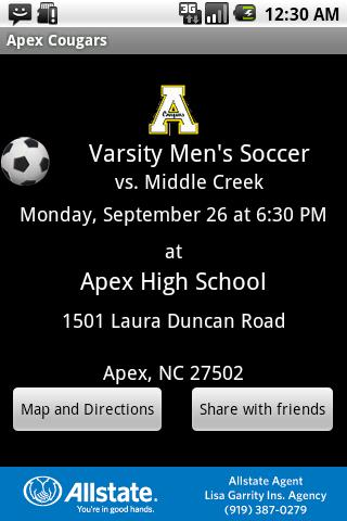 Apex Cougars - screenshot