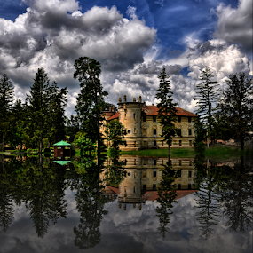 Castle near Vrbovec by Manuela Dedić - Buildings & Architecture Public & Historical ( clouds, reflection, castle,  )