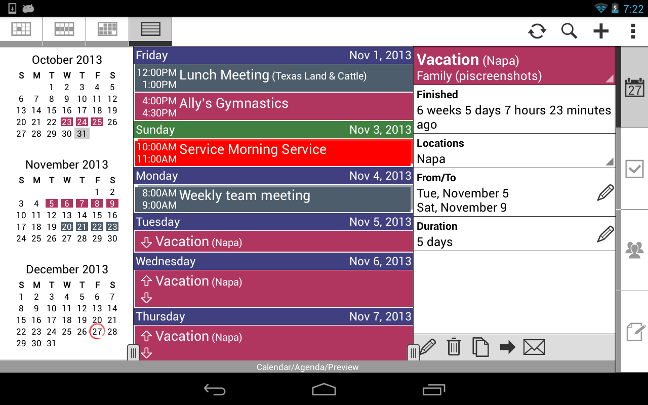 Pocket Informant 3 - screenshot