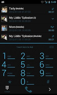 GOContacts Theme Holo Blue - screenshot thumbnail