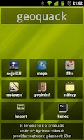 Screenshot of geoquack