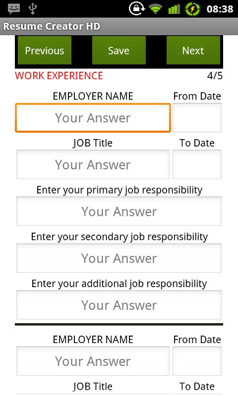 Resume Creator Hd Html Android Apps On Google Play