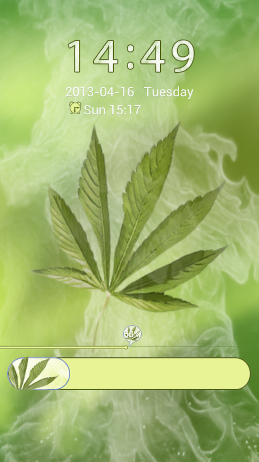 GO Locker Weed Ganja Theme - screenshot