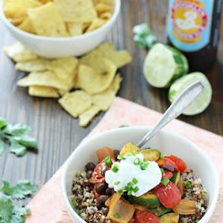 Quinoa and Roasted Vegetable Burrito Bowls