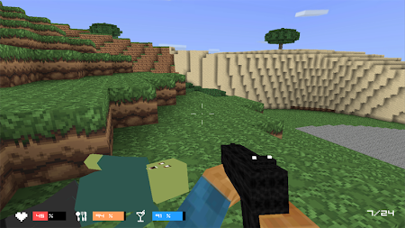 Cube Gun 3D : Zombie Island 1.0 screenshot 44168