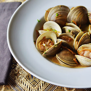 Manila Clams with Soy Butter.