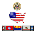 USA - States, Flags & Slogans icon
