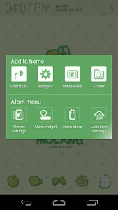 Molang Clover Green Atom theme screenshot 5