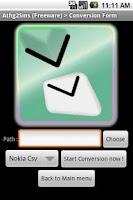 Screenshot of Anything to SMS(CSV, XML, SQL)