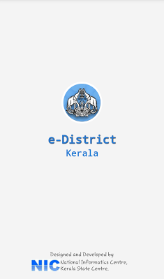 eDistrict Kerala Apln Status - screenshot