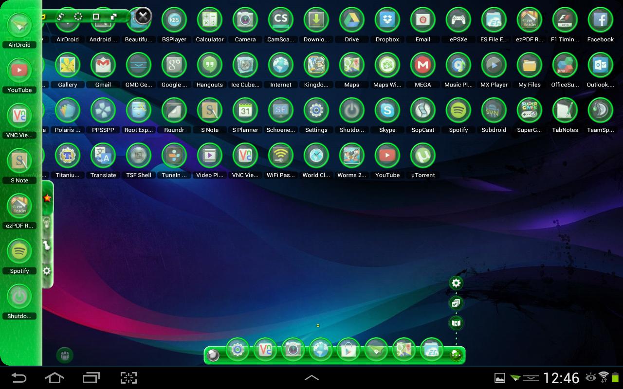 Gmail theme gallery - Tsf Shell Theme Green Light Hd Screenshot