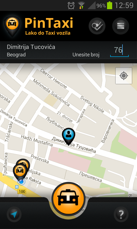 PinTaxi- screenshot