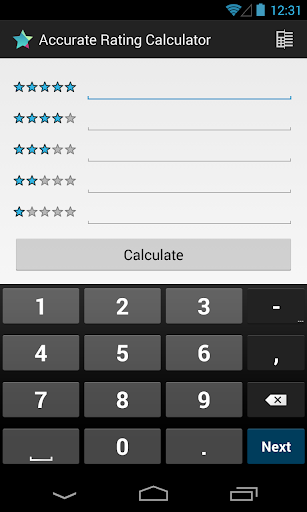 Accurate Rating Calculator