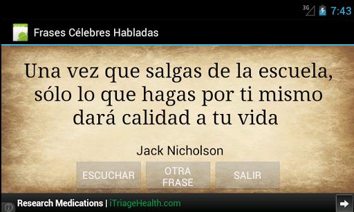 【免費書籍App】Frases Celebres Habladas-APP點子