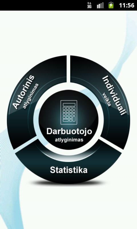 Atlyginimų skaičiuoklė- screenshot