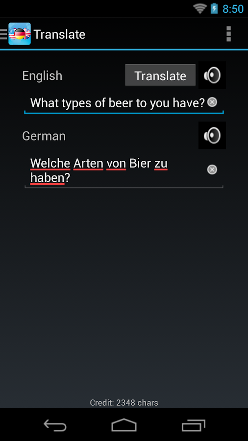 German English Dictionary + - screenshot