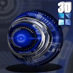 Next Launcher Theme Krome 3D v1.0.9