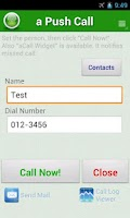 Screenshot of a Push Call - Simple Contacts
