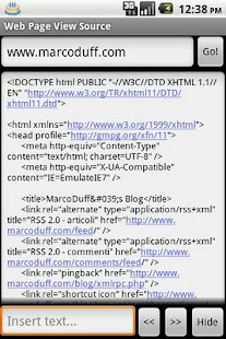 WebPageViewSource- screenshot thumbnail