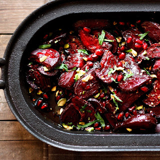 Moroccan Roasted Beets with Pomegranate and Balsamic Glaze