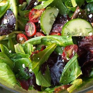 Simplest Greek Salad w/ Lemon- Oregano Vinaigrette