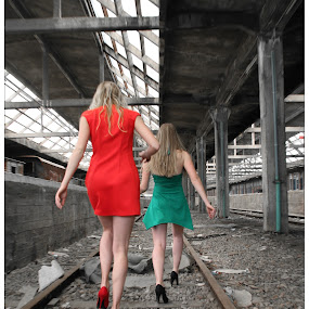 Follow the track by Steve Hendra - People Portraits of Women ( models, station, female, track, train,  )